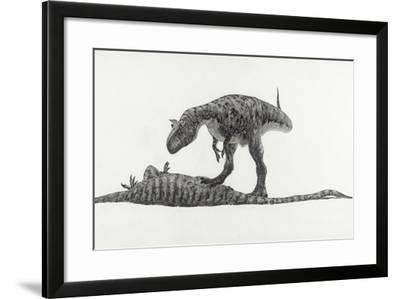 The Only Carnivorous Dinosaur to Be Discovered in Antarctica-Doug Henderson-Framed Giclee Print
