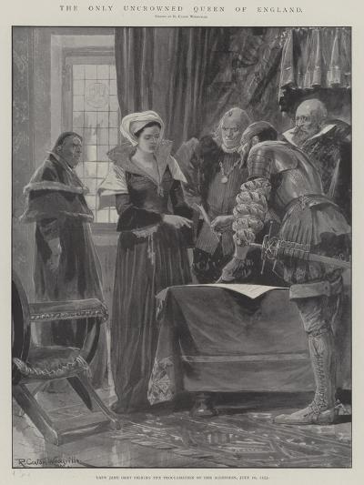 The Only Uncrowned Queen of England-Richard Caton Woodville II-Giclee Print