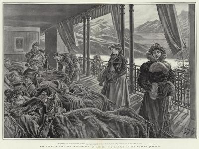 The Open-Air Cure for Consumption at Leysin, the Balcony of the Women's Quarters-Henri Lanos-Giclee Print