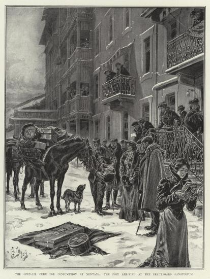 The Open-Air Cure for Consumption at Montana, the Post Arriving at the Beauregard Sanatorium-Henri Lanos-Giclee Print