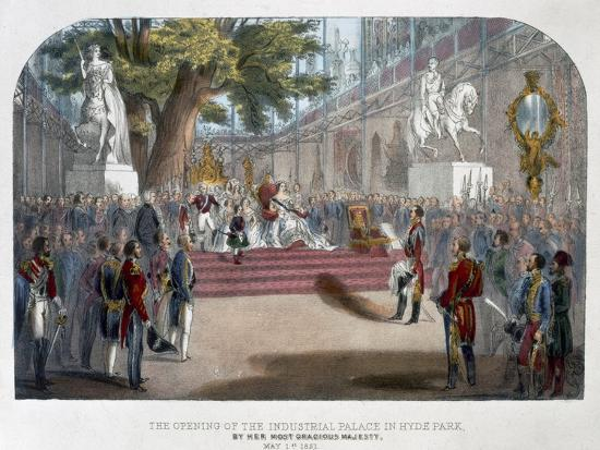 The opening by Queen Victoria of the Industrial Palace in Hyde Park, May 1st 1851-Unknown-Giclee Print