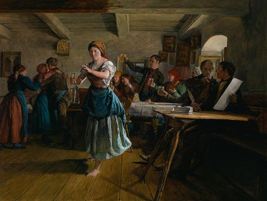 The Opening Dance, 1863-Ferdinand Georg Waldm?ller-Giclee Print