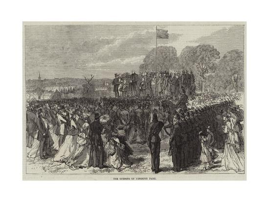 The Opening of Finsbury Park--Giclee Print