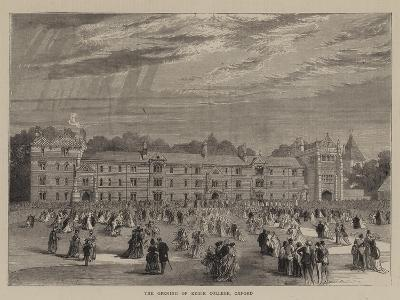 The Opening of Keble College, Oxford--Giclee Print