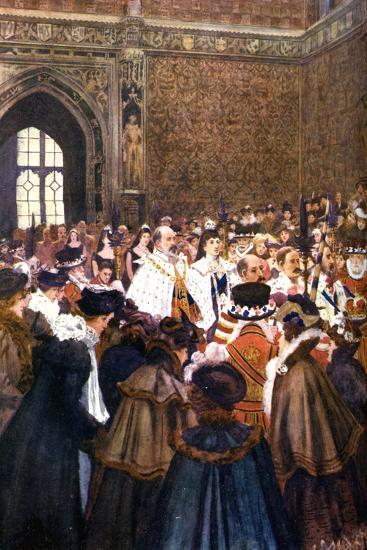 The Opening of Parliament by King Edward VII, C1905-Arthur David McCormick-Giclee Print