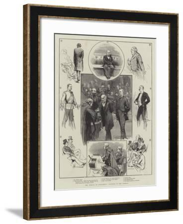 The Opening of Parliament, Incidents in the Commons-Thomas Walter Wilson-Framed Giclee Print