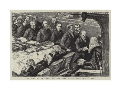 The Opening of Parliament, Shaking Hands with the Speaker--Giclee Print