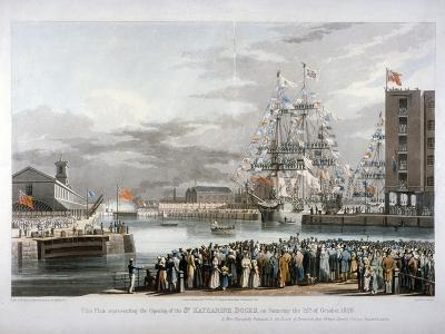 The Opening of St Katharine's Dock, London, 1828-E Duncan-Giclee Print