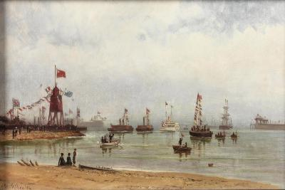 The Opening of the Albert Edward Dock and Port of Tyne, 1884-Duncan F. McLea-Giclee Print