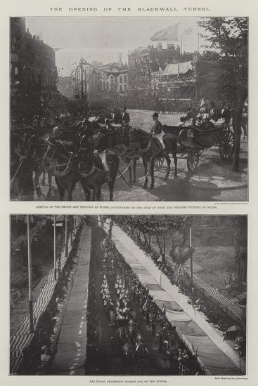 The Opening of the Blackwall Tunnel--Giclee Print