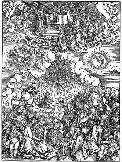 The Opening of the Fifth and Sixth Seals, 1498-Albrecht Durer-Giclee Print