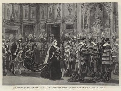 The Opening of the New Parliament by the Queen--Giclee Print