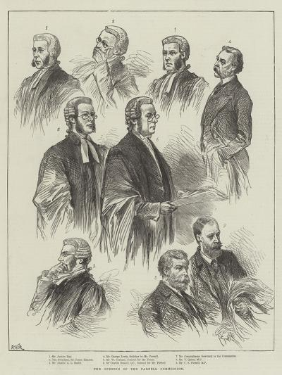 The Opening of the Parnell Commission--Giclee Print