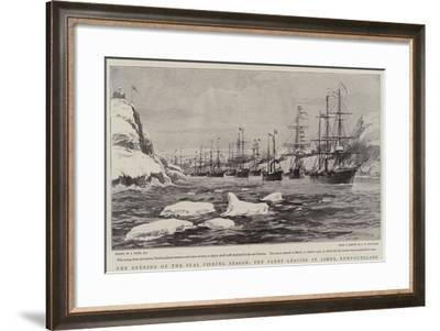 The Opening of the Seal Fishing Season, the Fleet Leaving St John'S, Newfoundland-Joseph Nash-Framed Giclee Print