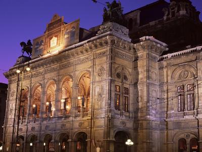 The Opera at Night, Vienna, Austria-Jean Brooks-Photographic Print