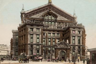 The Opera Seen from Boulevard Haussmann, 1900--Photographic Print
