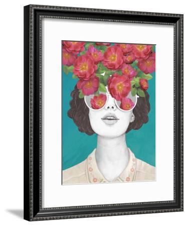 The Optimistrosetinted Glasses-Laura Graves-Framed Art Print