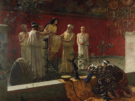 The Oracle, 1880-Camillo Miola-Giclee Print
