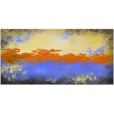 The Orange Sky--Hand Painted Art