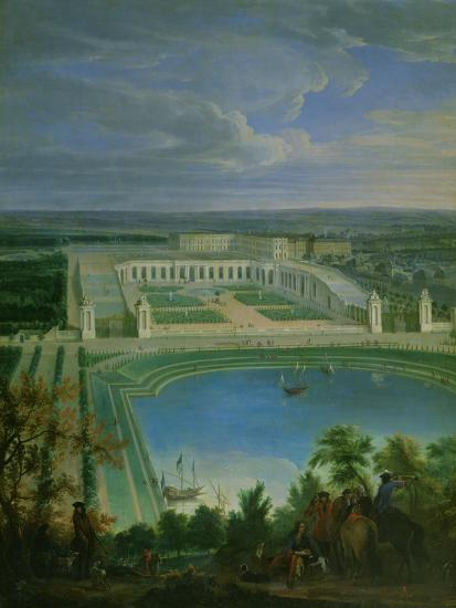 The Orangery and the Chateau at Versailles, 1696-Jean-Baptiste Martin-Giclee Print