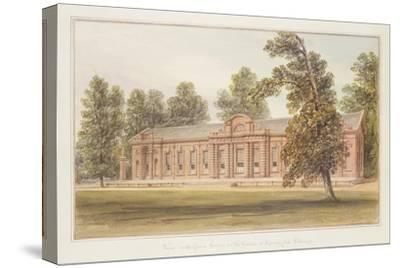 The Orangery or Greenhouse in the Garden of Kensington Palace-John Edmund Buckley-Stretched Canvas Print