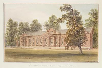 The Orangery or Greenhouse in the Garden of Kensington Palace-John Edmund Buckley-Giclee Print