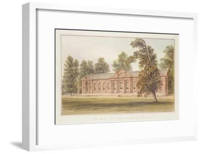 The Orangery or Greenhouse in the Garden of Kensington Palace-John Edmund Buckley-Framed Giclee Print