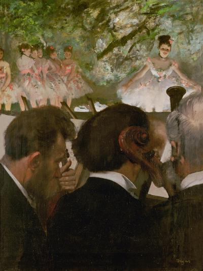 The Orchestra, 1870-1871 and 1874-1876-Edgar Degas-Giclee Print