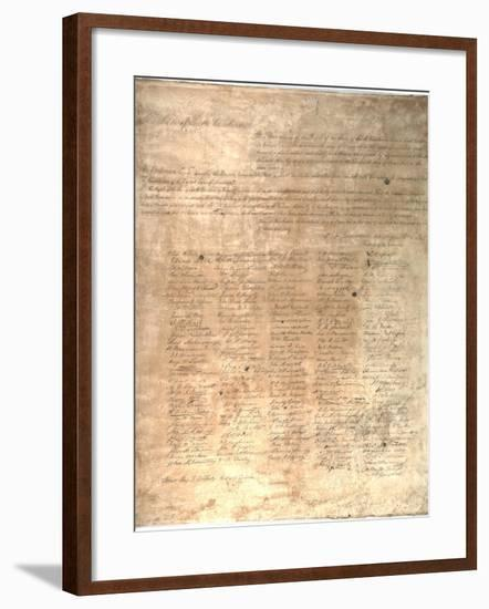 The Ordinance of Secession for the State of South Carolina, 1861--Framed Giclee Print