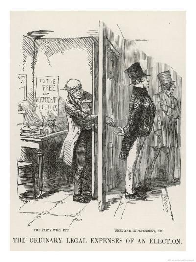 The Ordinary Legal Expenses of an Election-John Leech-Giclee Print