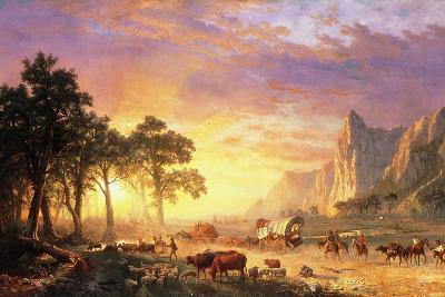 The Oregon Trail, 1869-Albert Bierstadt-Giclee Print