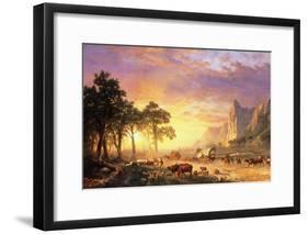The Oregon Trail, 1869-Albert Bierstadt-Framed Giclee Print