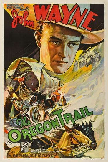 THE OREGON TRAIL, (poster art), John Wayne, 1936--Art Print