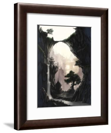 The Orient and Place That No One Knows in Fog-Kyo Nakayama-Framed Giclee Print