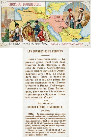 The Orient Express Railway Line from Paris to Constantinople--Giclee Print