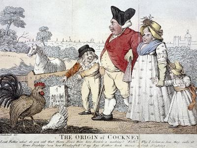The Origin of Cockney,' London, C1800-Isaac Cruikshank-Giclee Print