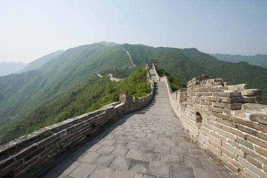 The Original Mutianyu Section of the Great Wall, Beijing, China-Michael DeFreitas-Photographic Print