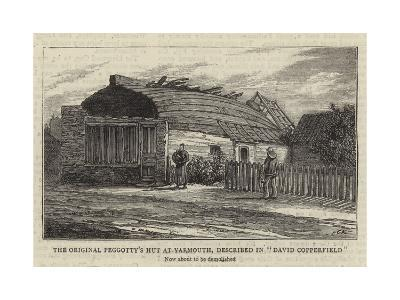 The Original Peggotty's Hut at Yarmouth, Described in David Copperfield--Giclee Print