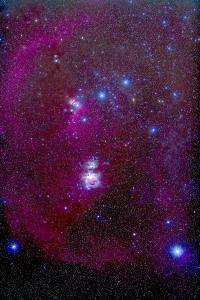 The Orion Nebula, Belt of Orion, Sword of Orion and Nebulosity