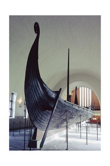 The Oseberg Ship--Giclee Print