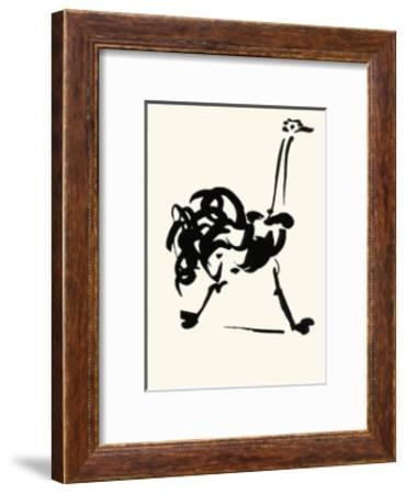 The Ostrich-Pablo Picasso-Framed Serigraph