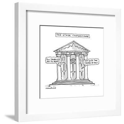 The Other Cooperstown - New Yorker Cartoon-Michael Crawford-Framed Premium Giclee Print