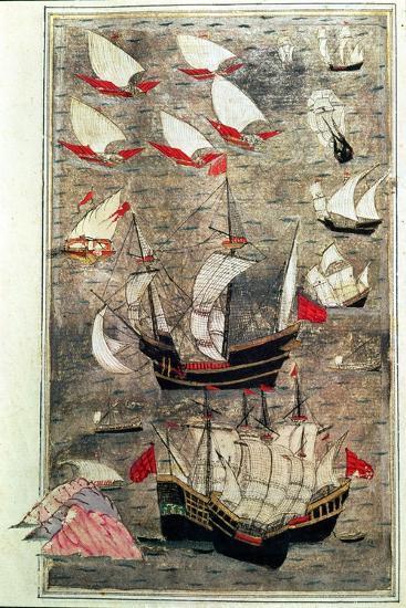 The Ottoman Fleet of Tarik-Y Bayezid--Giclee Print