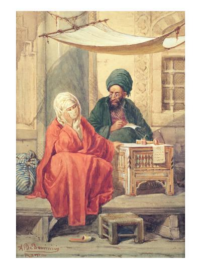 The Ottoman Scribe-Antonio de Dominici-Giclee Print