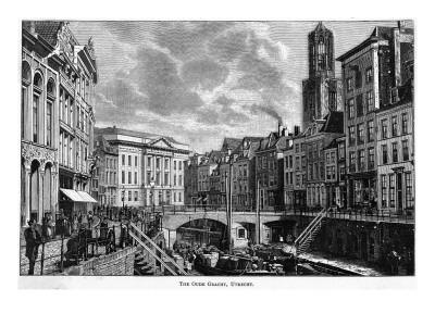 The Oude Gracht (The Old Canal)--Giclee Print