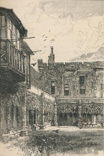 'The Outer Cloisters and Anne Boleyn's Window', 1895-Unknown-Giclee Print