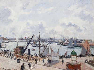 The Outer Harbour of Le Havre, Morning Sun-Camille Pissarro-Giclee Print