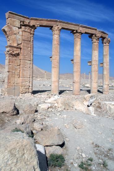 The Oval Piazza, Palmyra, Syria-Vivienne Sharp-Photographic Print