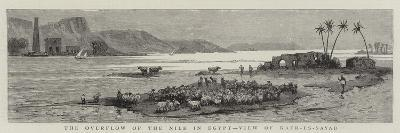 The Overflow of the Nile in Egypt, View of Kafr-Es-Sayad--Giclee Print