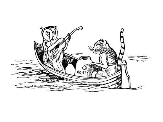 The Owl and the Pussycat-Edward Lear-Giclee Print